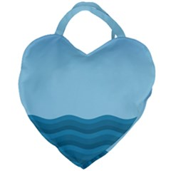 Making Waves Giant Heart Shaped Tote by WensdaiAddamns