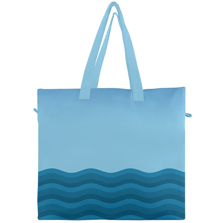 Making Waves Canvas Travel Bag