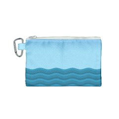 Making Waves Canvas Cosmetic Bag (small) by WensdaiAddamns