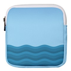 Making Waves Mini Square Pouch by WensdaiAmbrose