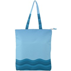 Making Waves Double Zip Up Tote Bag by WensdaiAmbrose