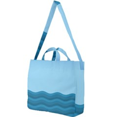 Making Waves Square Shoulder Tote Bag by WensdaiAddamns
