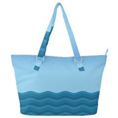 Making Waves Full Print Shoulder Bag by WensdaiAddamns