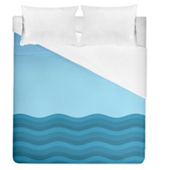 Making Waves Duvet Cover (queen Size) by WensdaiAmbrose