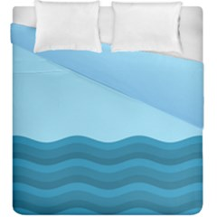Making Waves Duvet Cover Double Side (king Size)