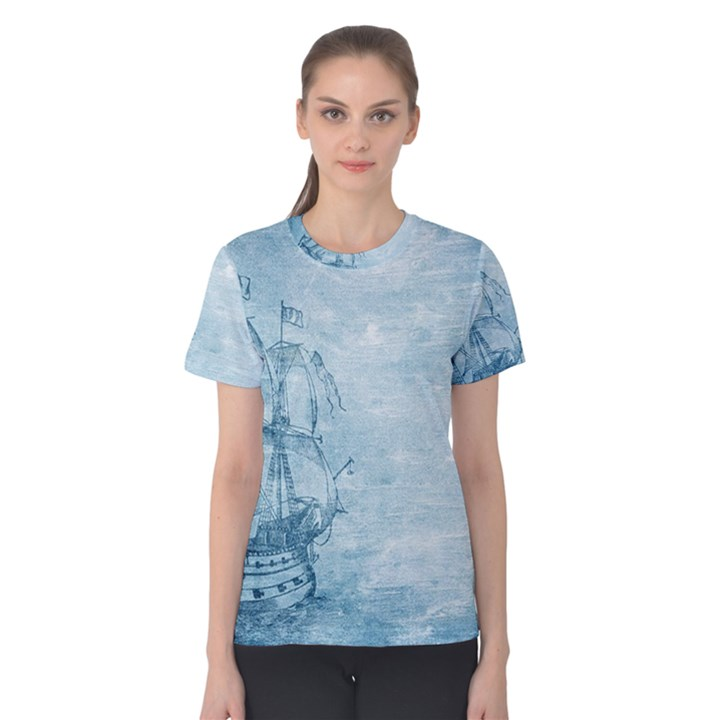Sail Away - Vintage - Women s Cotton Tee