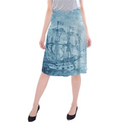 Sail Away   Vintage   Midi Beach Skirt by WensdaiAddamns