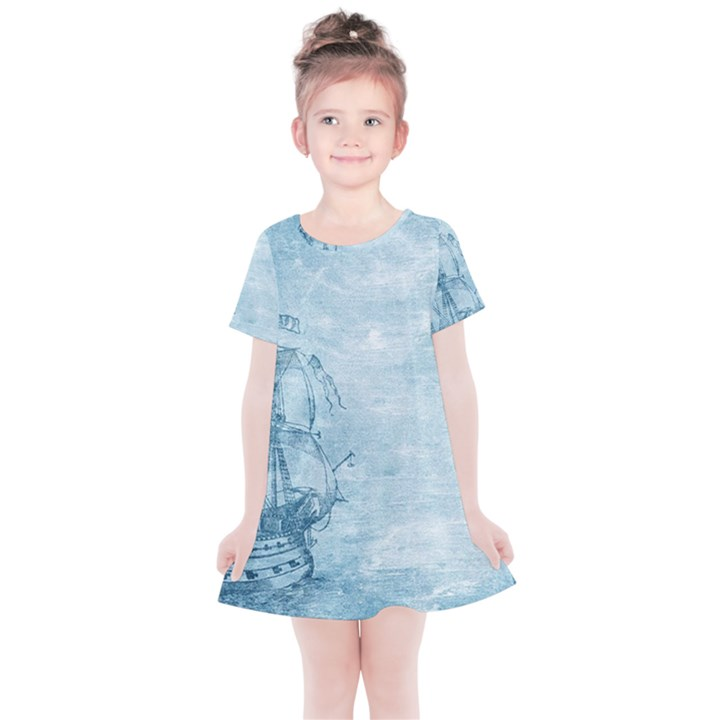 Sail Away - Vintage - Kids  Simple Cotton Dress