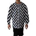 Black And White Herringbone Hooded Windbreaker (Kids) View1