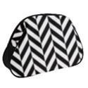 Black And White Herringbone Full Print Accessory Pouch (Small) View2