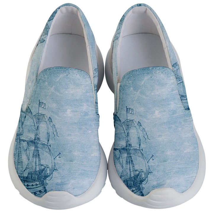 Sail Away - Vintage - Kids  Lightweight Slip Ons