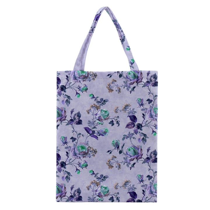 Vintage Roses Purple Classic Tote Bag