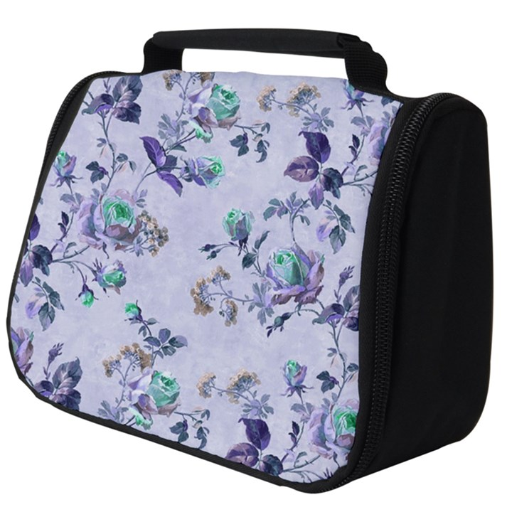 Vintage Roses Purple Full Print Travel Pouch (Big)