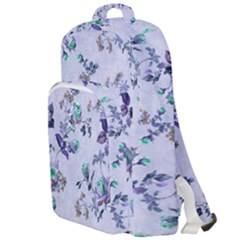 Vintage Roses Purple Double Compartment Backpack