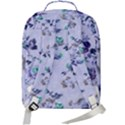 Vintage Roses Purple Double Compartment Backpack View3