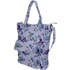Vintage Roses Purple Shoulder Tote Bag
