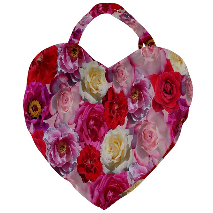 Bed Of Roses Giant Heart Shaped Tote