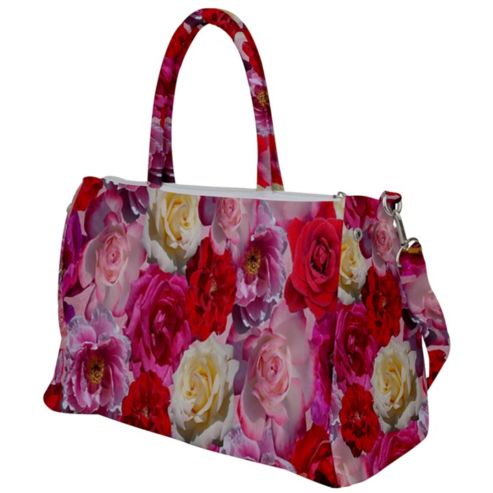 Bed Of Roses Duffel Travel Bag
