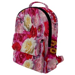 Bed Of Roses Flap Pocket Backpack (small)