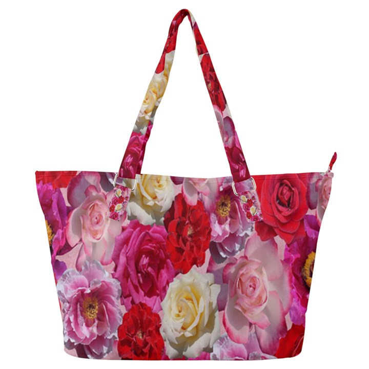 Bed Of Roses Full Print Shoulder Bag