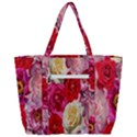 Bed Of Roses Zip Up Canvas Bag View3