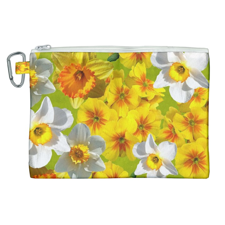 Daffodil Surprise Canvas Cosmetic Bag (XL)