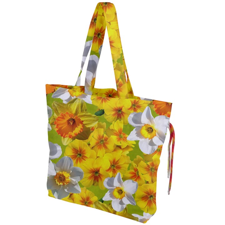 Daffodil Surprise Drawstring Tote Bag