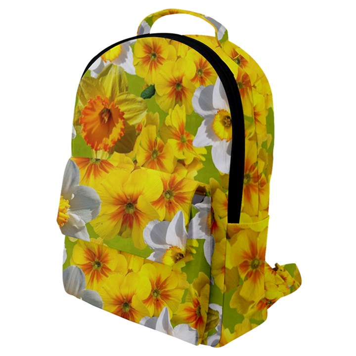 Daffodil Surprise Flap Pocket Backpack (Small)