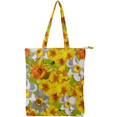 Daffodil Surprise Double Zip Up Tote Bag