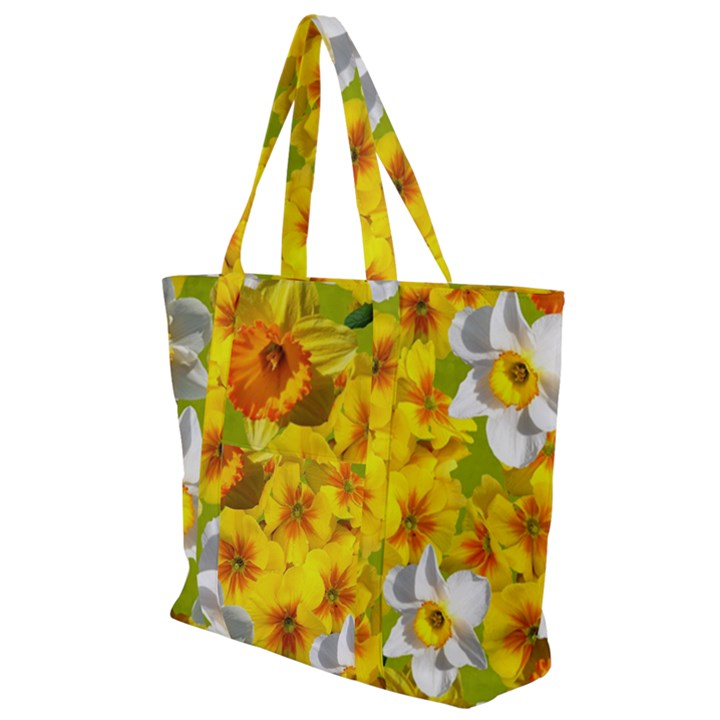 Daffodil Surprise Zip Up Canvas Bag