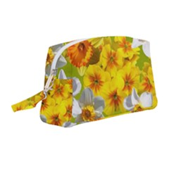 Daffodil Surprise Wristlet Pouch Bag (medium) by retrotoomoderndesigns