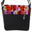 Multicolored Daisies Flap Closure Messenger Bag (S) View1