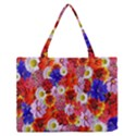 Multicolored Daisies Zipper Medium Tote Bag View1