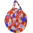Multicolored Daisies Giant Round Zipper Tote View1