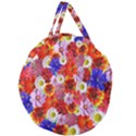 Multicolored Daisies Giant Round Zipper Tote View2