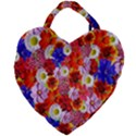 Multicolored Daisies Giant Heart Shaped Tote View2