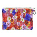 Multicolored Daisies Canvas Cosmetic Bag (XL) View2