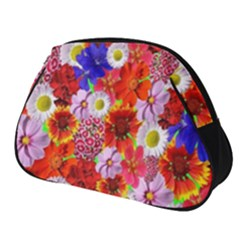 Multicolored Daisies Full Print Accessory Pouch (small)