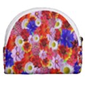 Multicolored Daisies Horseshoe Style Canvas Pouch View2