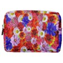 Multicolored Daisies Make Up Pouch (Medium) View1