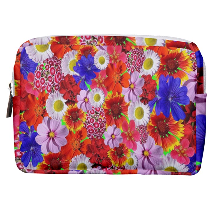 Multicolored Daisies Make Up Pouch (Medium)