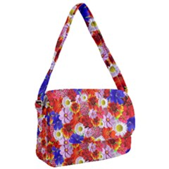 Multicolored Daisies Courier Bag by retrotoomoderndesigns