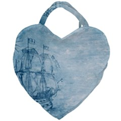 Sail Away   Vintage   Giant Heart Shaped Tote