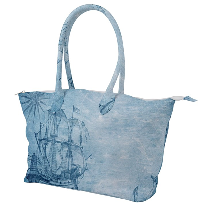 Sail Away - Vintage - Canvas Shoulder Bag