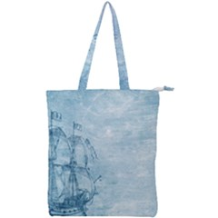 Sail Away   Vintage   Double Zip Up Tote Bag by WensdaiAddamns