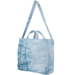 Sail Away   Vintage   Square Shoulder Tote Bag by WensdaiAddamns