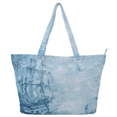 Sail Away   Vintage   Full Print Shoulder Bag by WensdaiAddamns