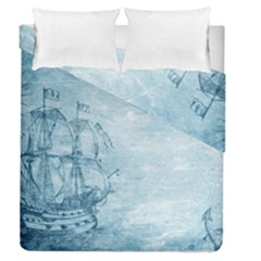Sail Away   Vintage   Duvet Cover Double Side (queen Size)