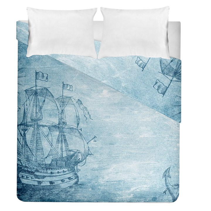 Sail Away - Vintage - Duvet Cover Double Side (Queen Size)