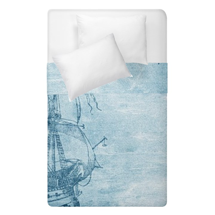 Sail Away - Vintage - Duvet Cover Double Side (Single Size)